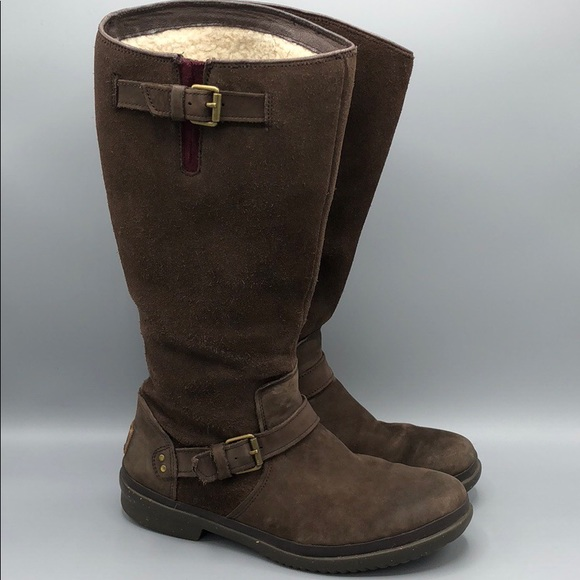 0a0e6aa0de9 Ugg Thomsen Tall waterproof Boot suede leather 8.5